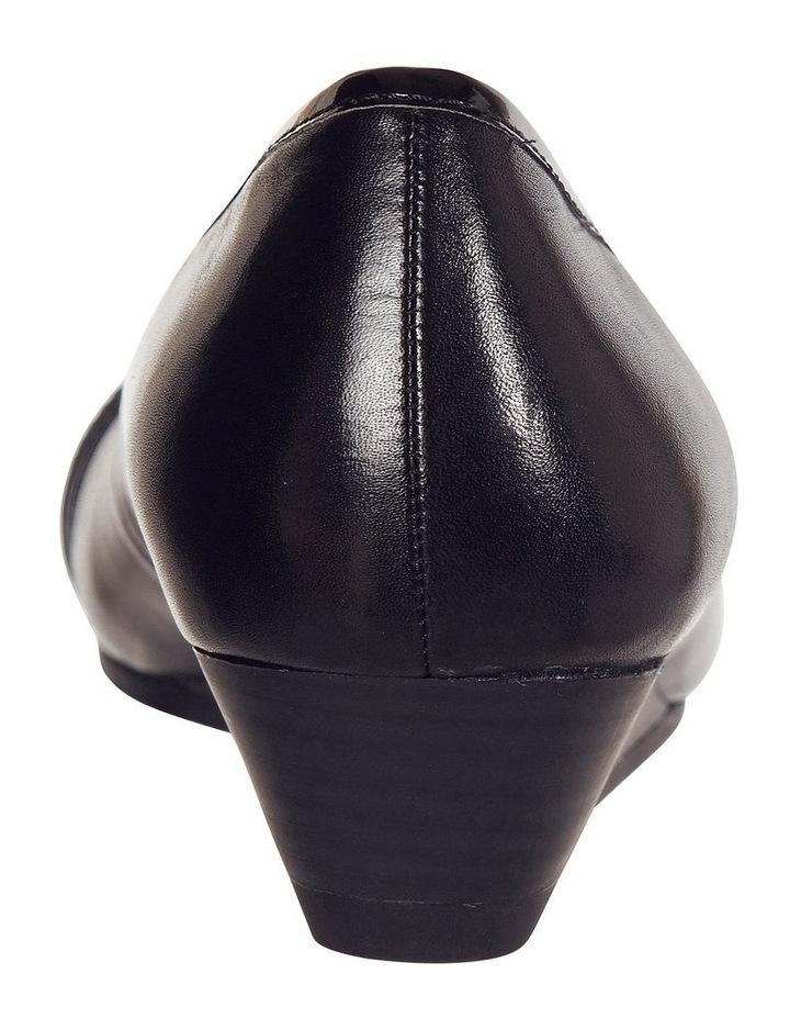 Napier Black Glove/Patent Heeled Shoes image 5
