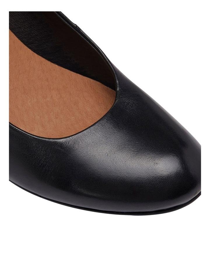 Edina Black Glove Heeled Shoes image 6