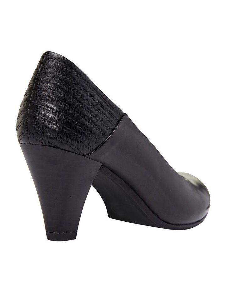 Edina Black Glove Heeled Shoes image 7