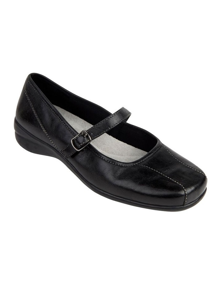Brianna Black Glove Flat Shoes image 2