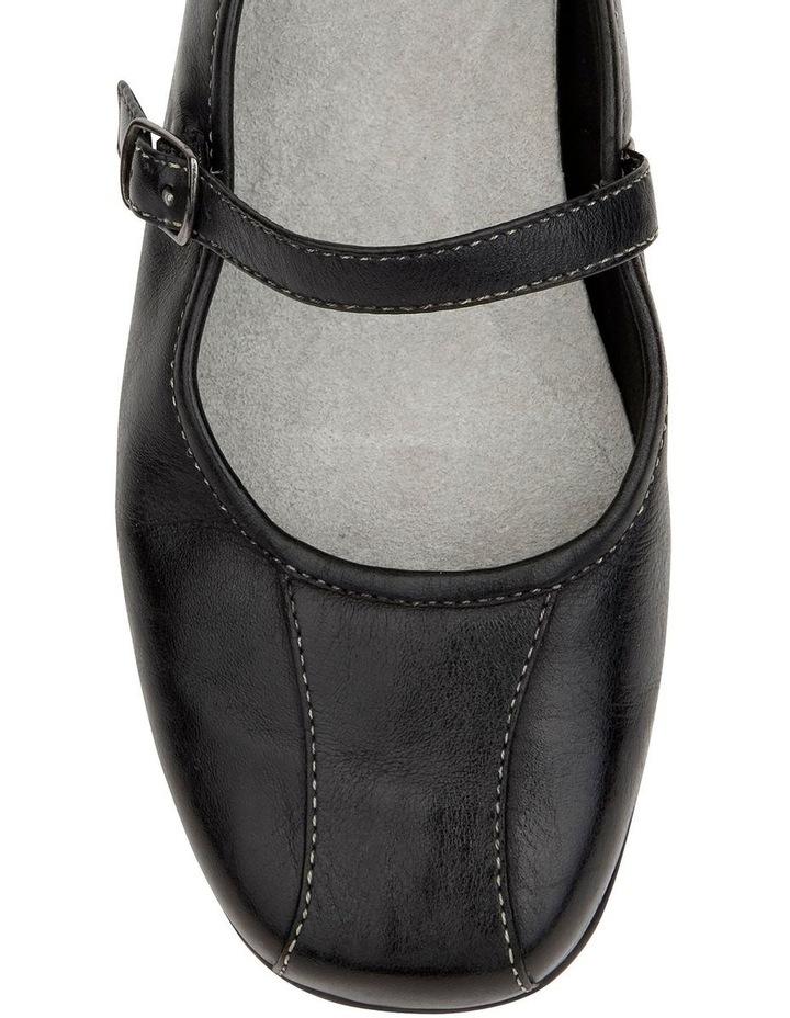 Brianna Black Glove Flat Shoes image 3
