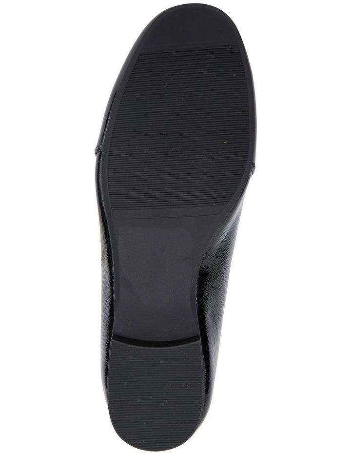 Castle Black Crinkle Patent Flat Shoes image 6