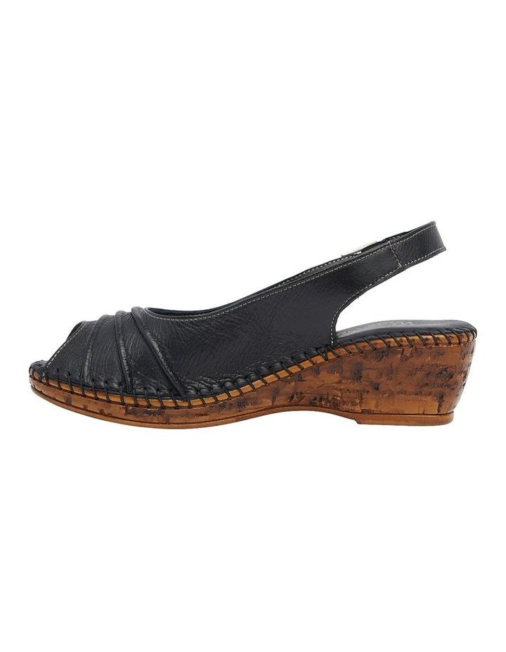 Dex Black Glove Wedge Sandal image 3