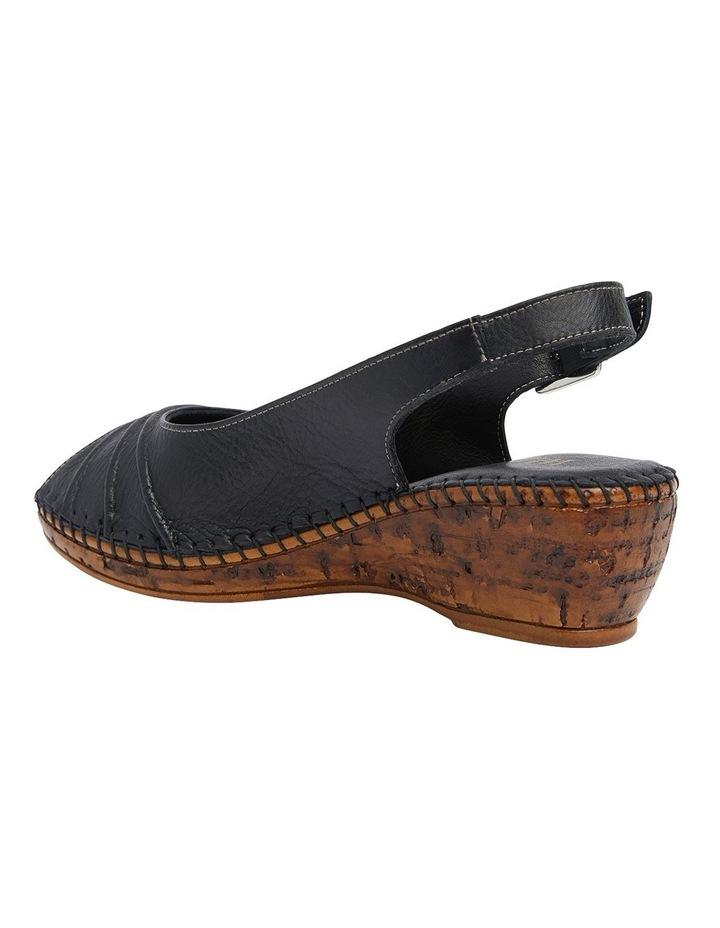Dex Black Glove Wedge Sandal image 7