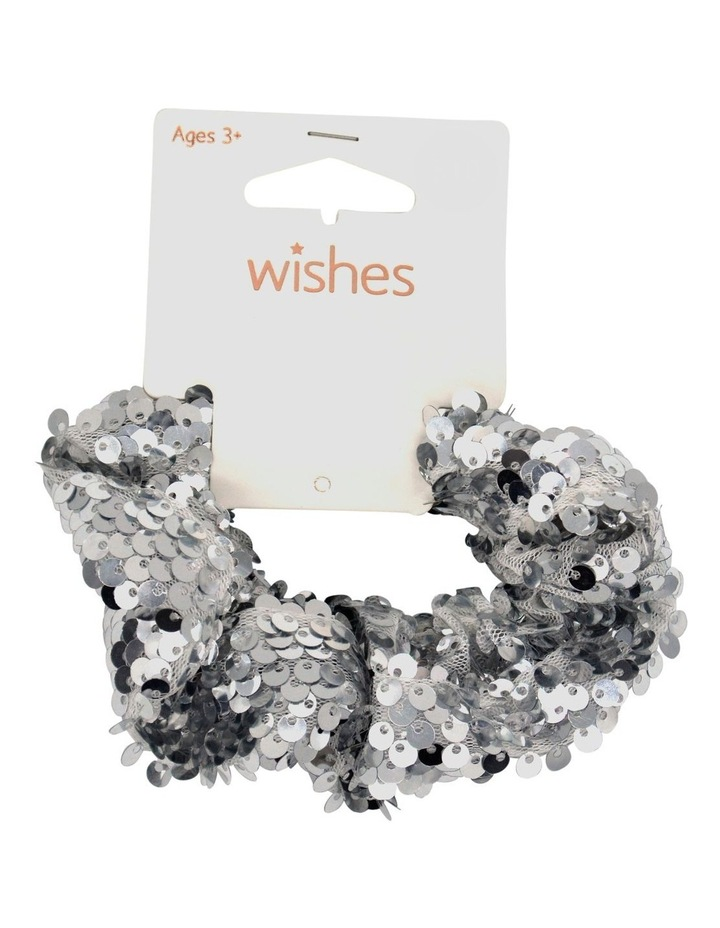Wis Scrunchie Sequin Silver image 1