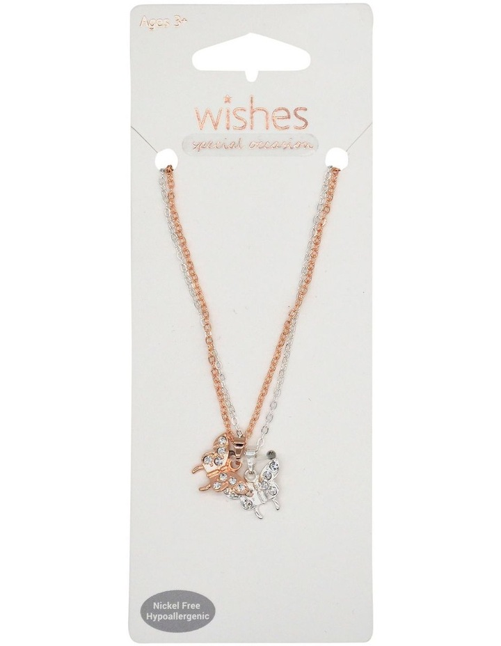 Wso Necklace Butterfly 2Pk image 1