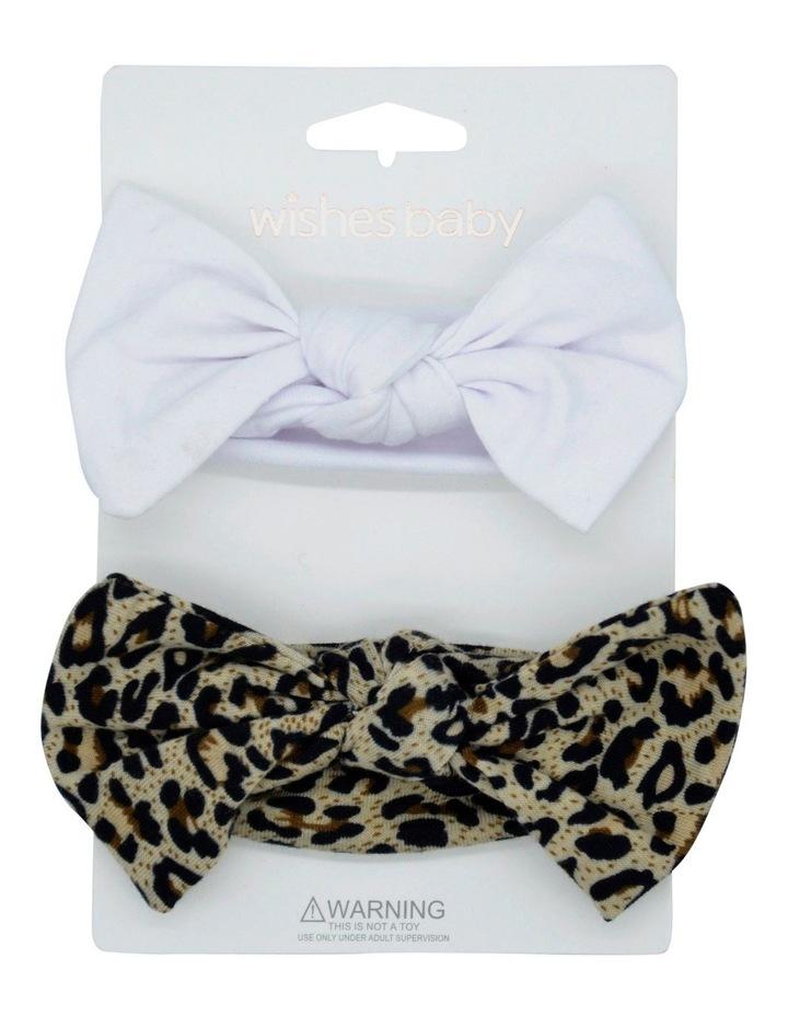 Wib White Leopard Hairwrap 2 Pk image 1