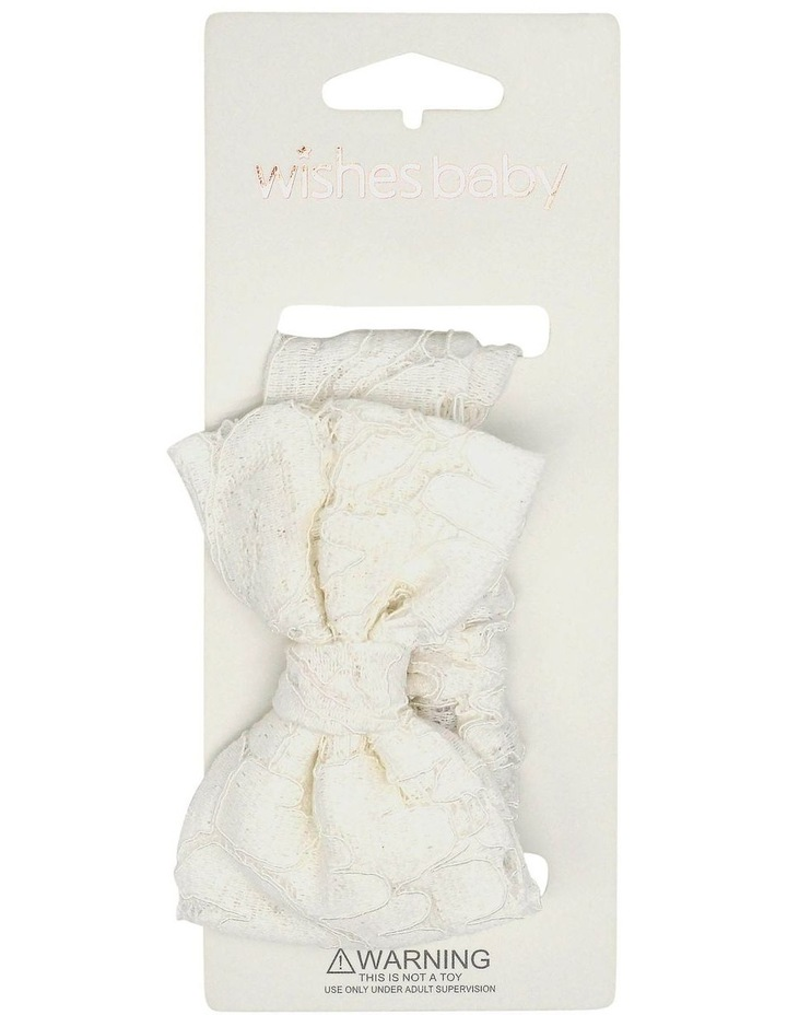 Wib So White Floral Hairwrap image 1