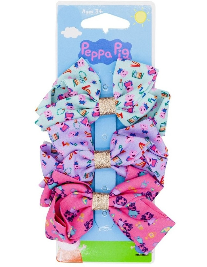 Pep Bw Bow Hair Clips 3 Pack image 1