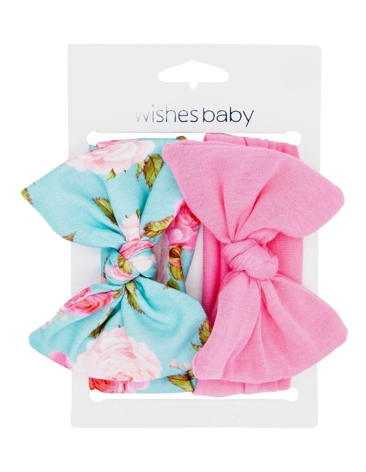 White Pink Hairwrap 2 Pack image 1