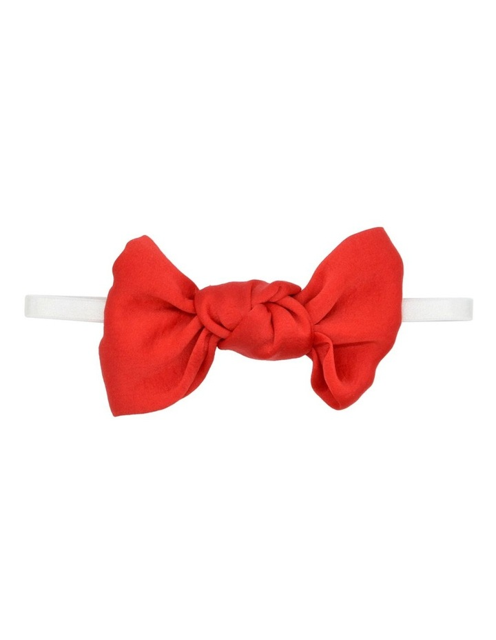 WIB HWRAP XMS SATIN BOW RED image 1