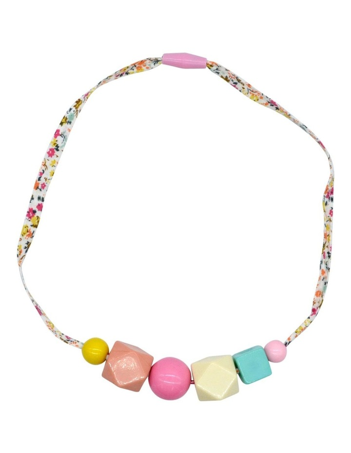 Necklace Printed Geo Bead image 1