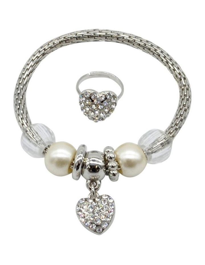 Bling Ring Diamond Heart 2 Pack image 1