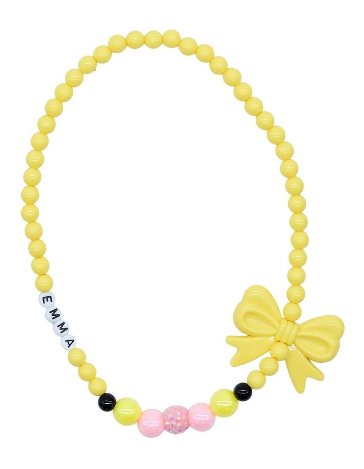 Emma Bow Bead Necklace image 1