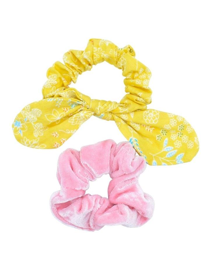 Scrunchie Mustard Pink 2 Pack image 1