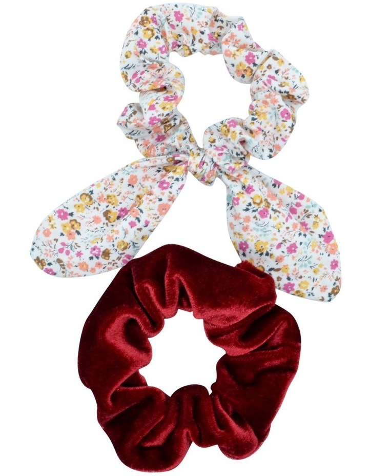 Scrunchie Berry Floral 2 Pack image 1