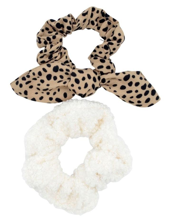 Scrunchie Animal Cream 2 Pack image 1