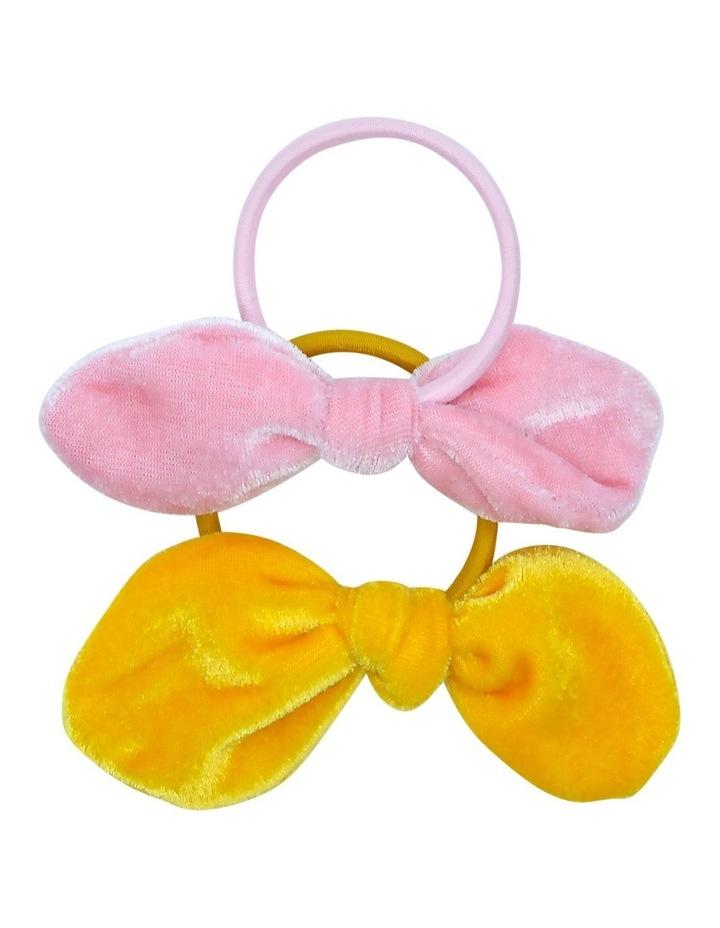 Hair Tie Velvet Mustard Pink 2 Pack image 1