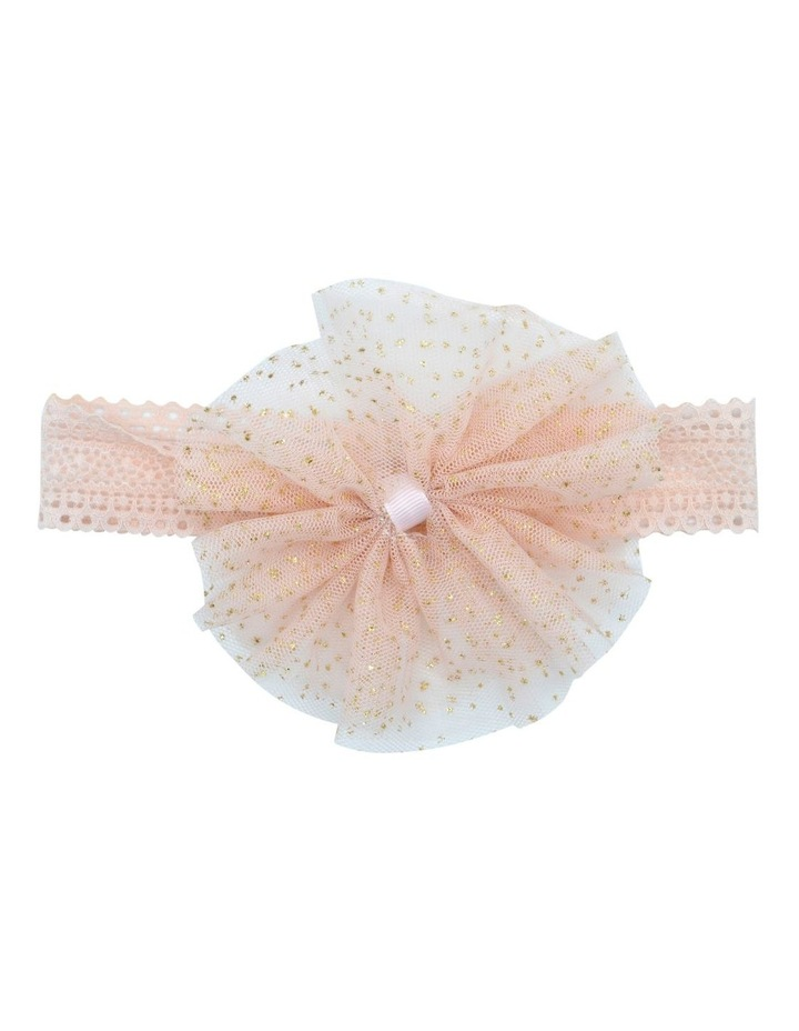 Hairwrap Glitter Bow Pink image 1