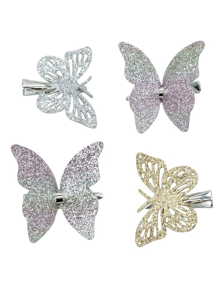 Hairclips Butterfly 4 Pack image 1