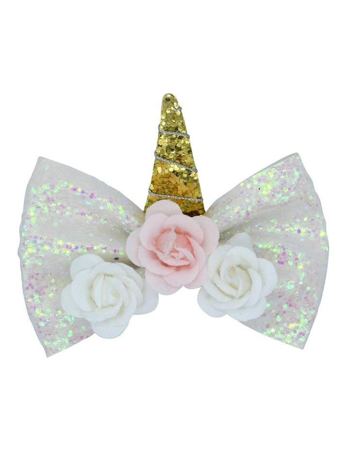 Hairclip Glitter Unicorn 1 Pack image 1