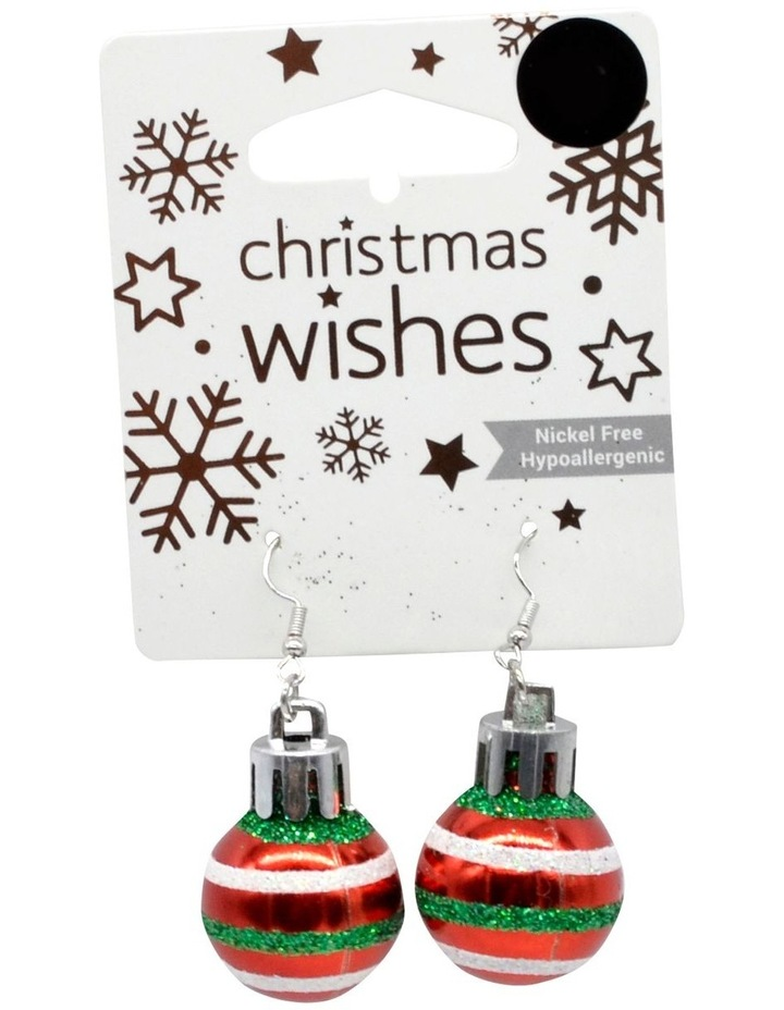 XMS T EARRINGS BAUBLE  RED image 1